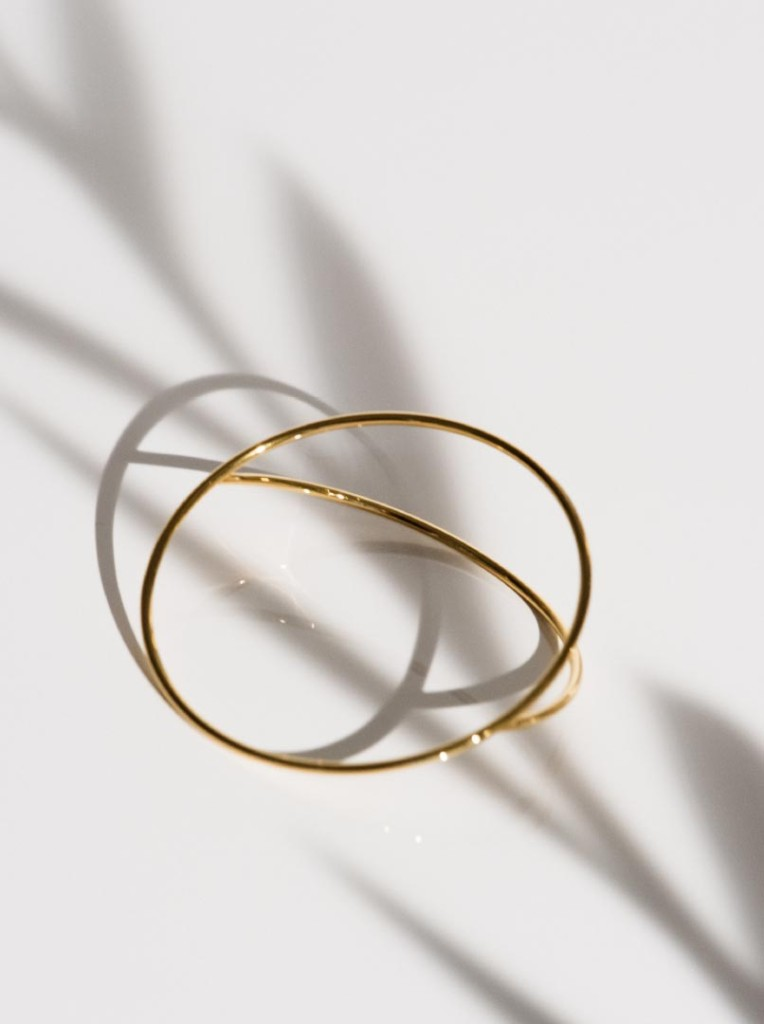 Parting circle bracelet regular, gold (XI-03-B)